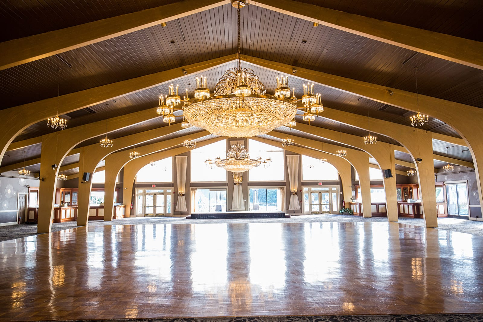 Harborview Ballroom cleared of seating to show scale.