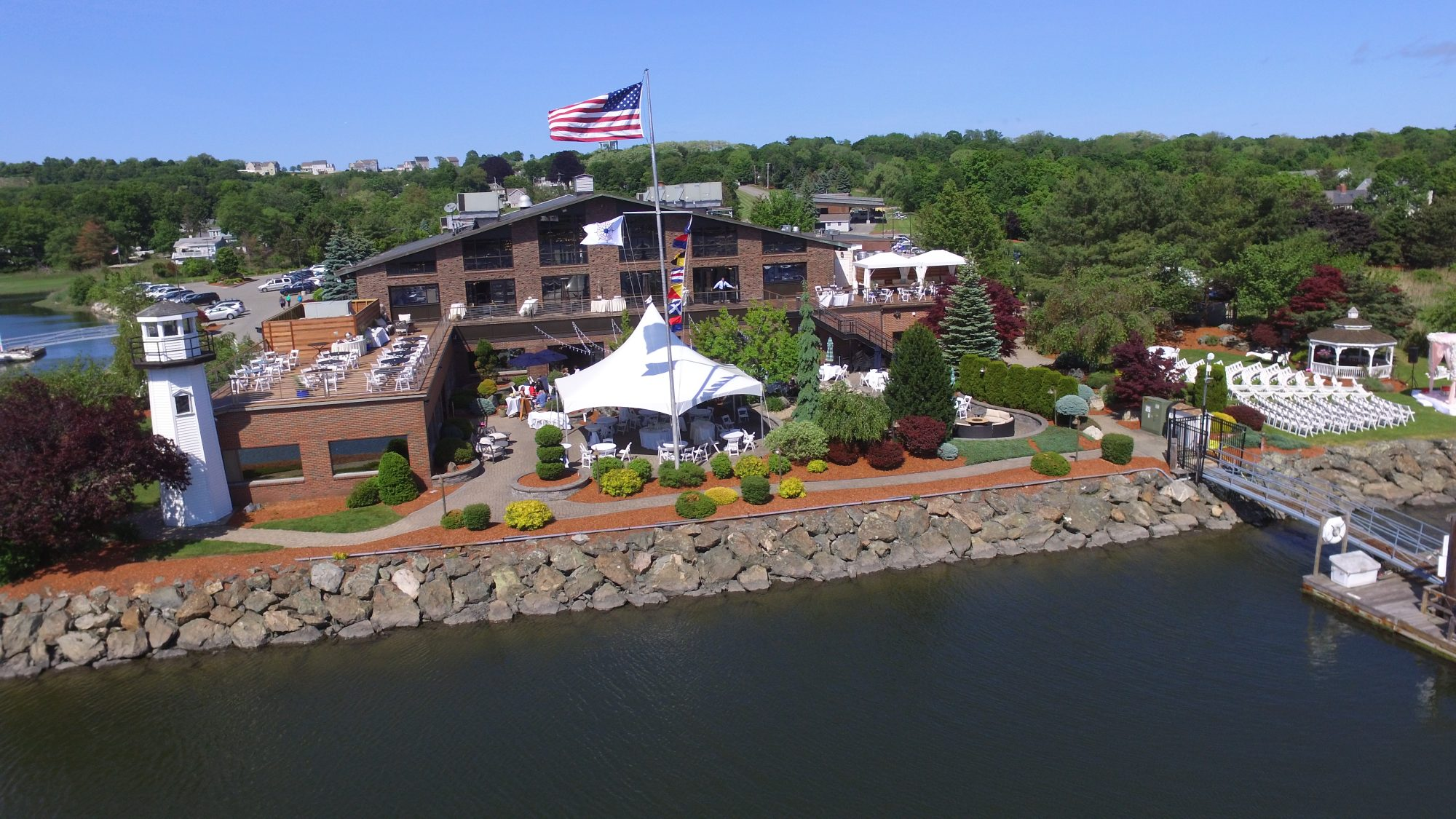 Drone photo of danversport property
