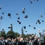 graduate throwing motar boards