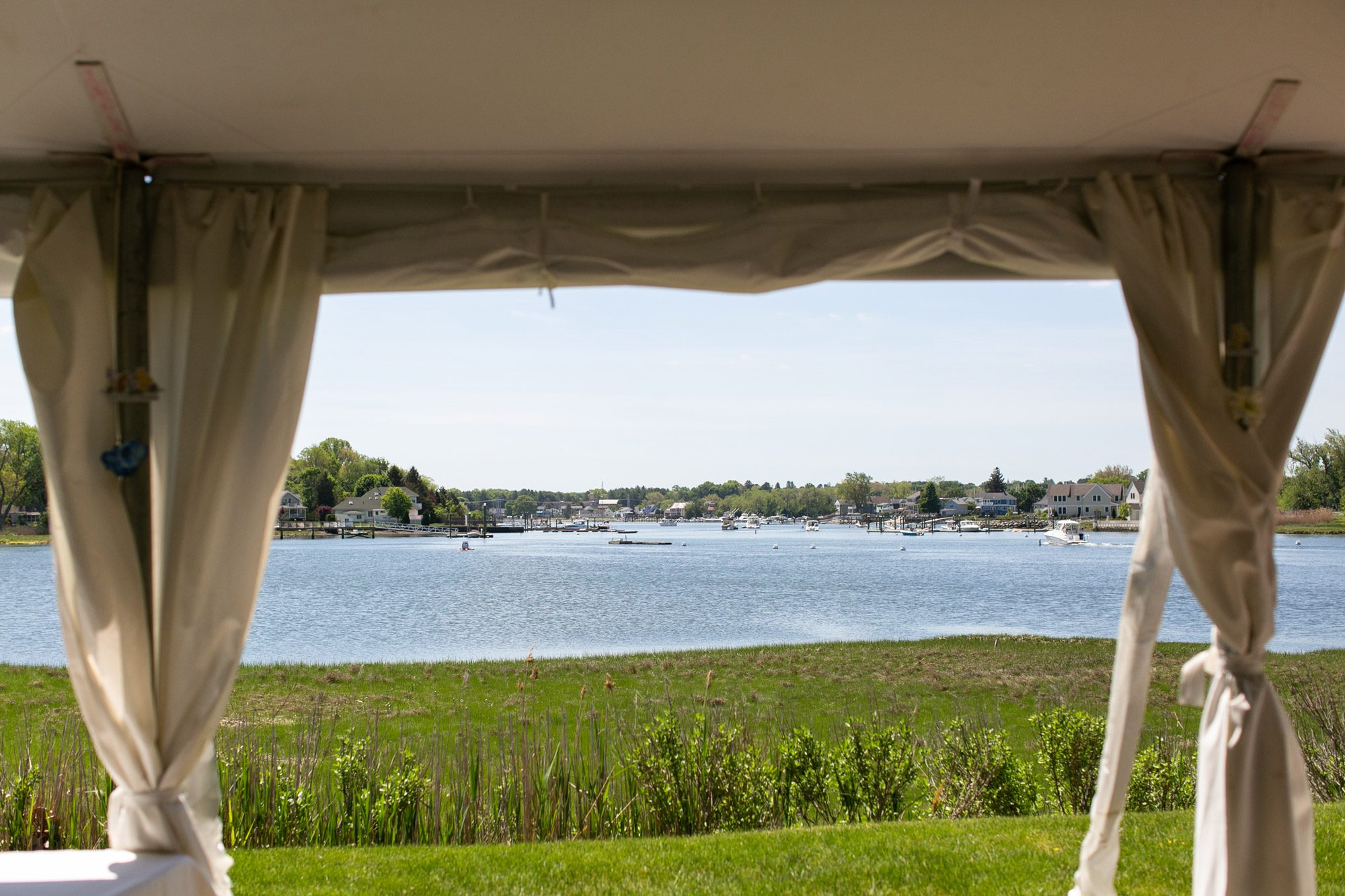 The view from The Tent Pavilion at Danversport