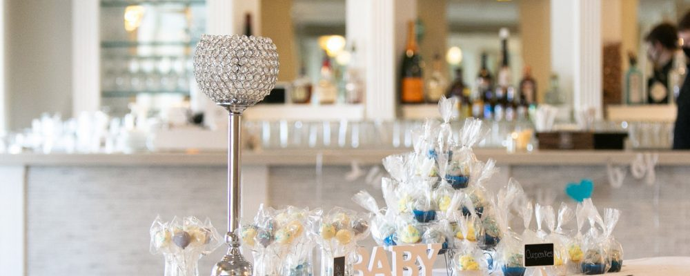 A tablescape at a baby shower at Danversport