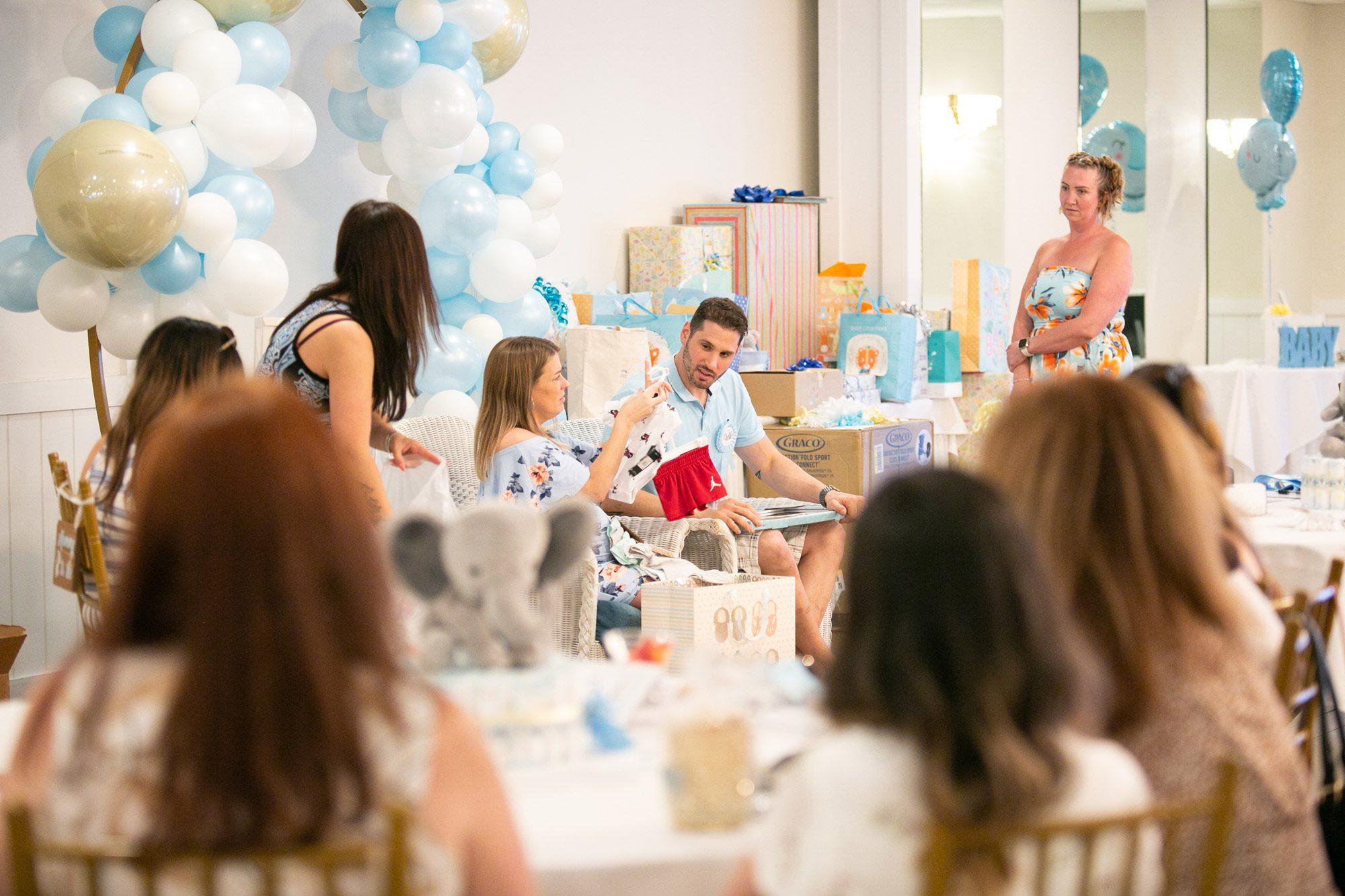 A baby shower in Terrace Ballroom at Danversport in Danvers, Massachusetts