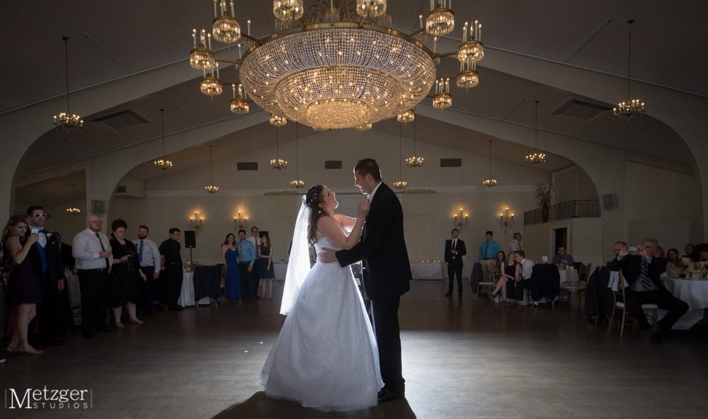 Couple has first dance at Danversport Harborview Ballroom