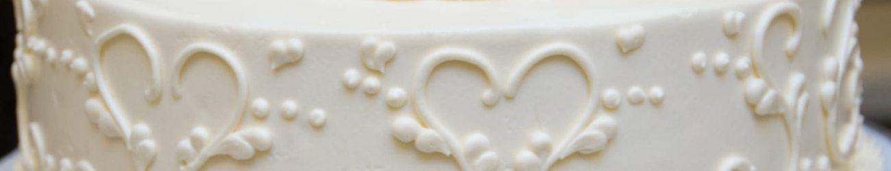 Detail of a Danversport Yacht Club wedding cake