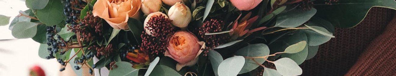 autumn themed bridal flowers