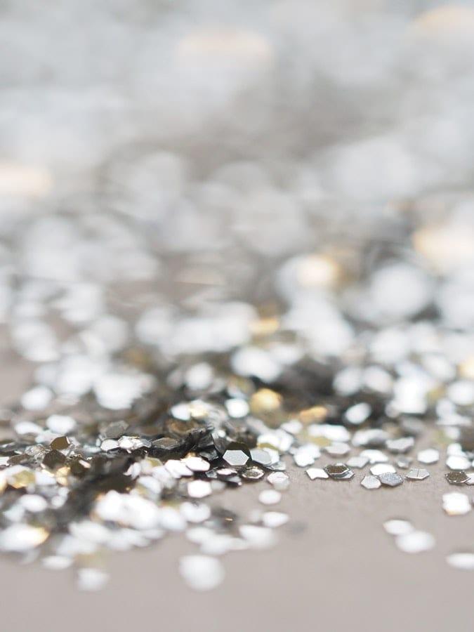 glitter on floor