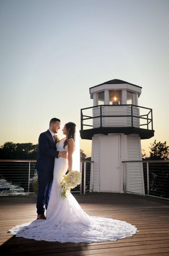 Wedding Photos by the Lighthouse at Danversport
