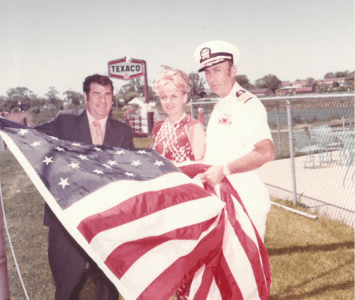 joe and barbara with american flag